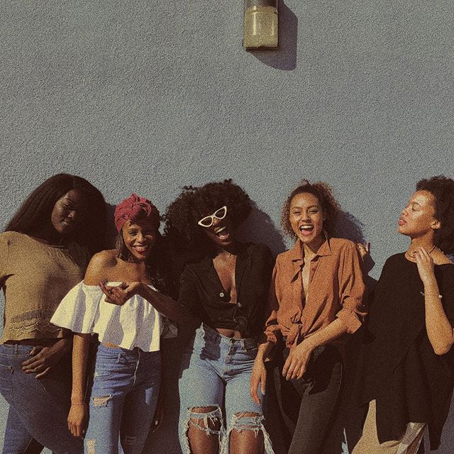 black sisterhood is so important. celebrate them. affirm them. love on them + let them love on you. 💕  this austin trip was the best trip ever. like i don't even understand. 😭😭 my texas besties met my chicago boos + my LORD, it was so beautiful + hilarious. all week long we laughed at each + with each other because we're all idiots lmbooo. we cracked jokes, danced to migos, hopped out of our cars at a red light to dance to trap music lol, went hiking, talked about who made better jollof rice — ghanaians or nigerians. lol. we laughed hysterically. celebrated each other. gassed each other up. wow wow wow. my heart is so full. all of these women in this image are a reflection of me in different ways. i'm so blessed to have such an amazing tribe of friends who love me. support me. make me better + who allow me to be myself. austin was lit den a mug. my stomach was bloated the whole time cause i was eating too good (really bad) lol. but ya know — it was worth it. also, shout out to: @melanglow + @evelynfromtheinternets spending time with me + my girls. #vsco #girlsday #portrait #beauty #love #style #blackgirlmagic #womenofcolor #sisterhood