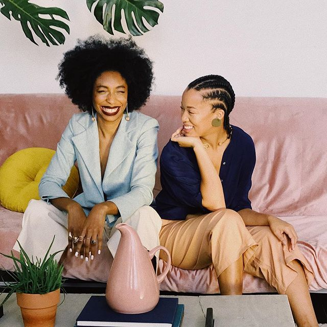 it feels amazing to know that i was created to do the work i'm doing — just like the woman sitting next to me. all you amazing women out here creating spaces + lanes for other women to thrive. thank you. who we are + how we do things is powerful. styled by: @meccajw vsco #sisterhood #love #blackgirlmagic #style #selflove