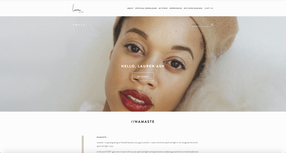 lauren ash , founder of black girl in om  brand identity, photography + web design