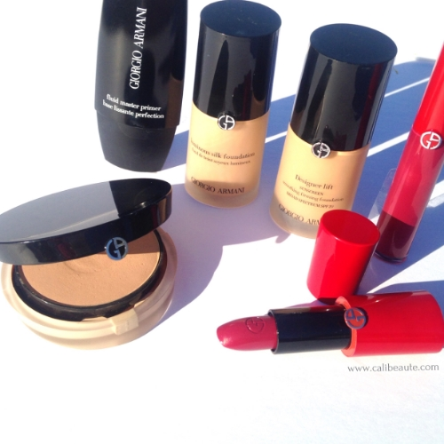 Here's a round up of some Armani products I currently use.