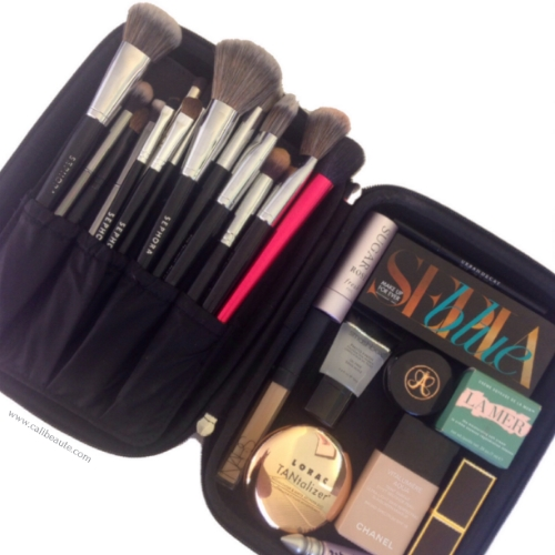 Above is an assortment of my full size Sephora Pro brushes. I packed these items with me while traveling to Hawaii earlier this year.