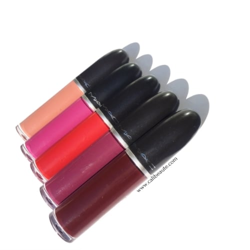 For those who prefer timeless glamour to all-out flash, matte reigns supreme. M∙A∙C introduces a twist on this classic texture with robustly saturated shades of Retro Matte Liquid Lipcolour. Whichever shade you choose, all promise one thing: a splash of colour in a liquid-suede finish that is impossible to forget.-via Mac Cosmetics' website.