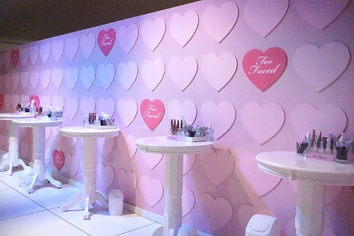 Too Faced had the most adorable set up!