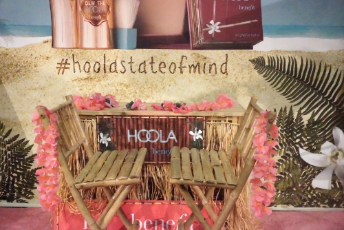 Benefit Cosmetics' Hawaiian themed booth.