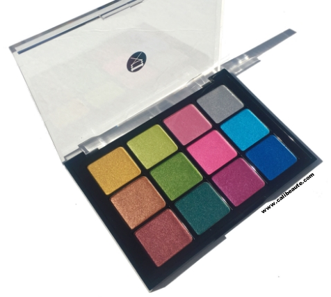 Viseart  Eyeshadow Palette 02: Ribbons Boheme Swatches