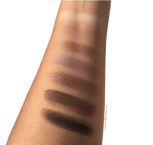 Swatches taken in direct sunlight.