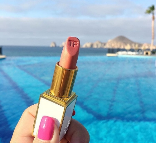 A match made in heaven. Tom Ford's Skinny Dip by the infinity pool.