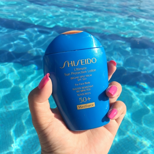 The Shiseido Ultimate Sun Protection lotion has never failed me, providing a lightweight, non greasy texture for my face and body while keeping my skin protected from the sun's harmful rays.