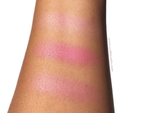 Marc Jacobs Beauty Air Blush Lush and Libido Swatches