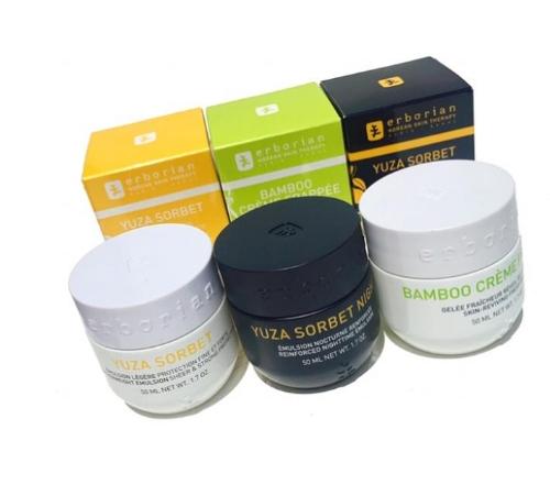 Erborian Skincare Therapy:  Yuza Sorbet & Bamboo Creme Frappee