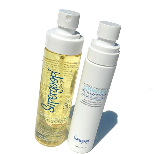 Summer Suncare Essentials: Supergoop! Sun Defying Sunscreen Oil and Defense Refresh Setting Mist