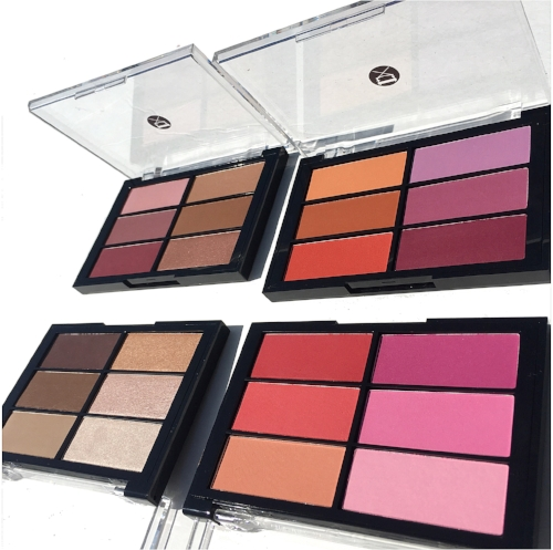 Viseart Blush Palettes Photos and Swatches: Plum/Bronze, Rose/Coral, Orange/Violet & the Highlight and Sculpting Palette
