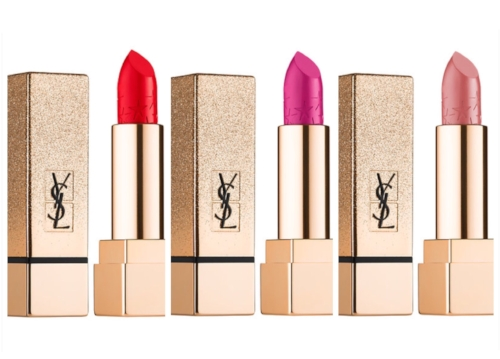 YSL Rouge Pur Couture Star Clash Edition Lipstick Swatches: Le Nu, Le Fuchsia, Le Rouge