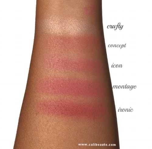 Tarte Amazonian Clay Blush Palette Color Wheel Swatches