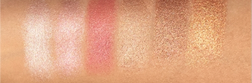 L to R: Celestial, Blossom, Berry, Gold Dust, Gilded, Candlelight