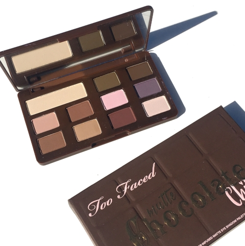Too Faced Matte Chocolate Chip Swatches and Review