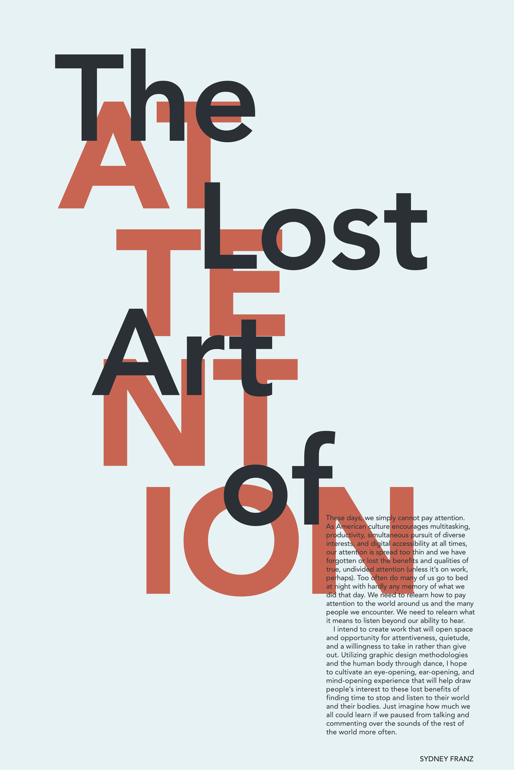The Lost Art of Attention: Typographic Poster