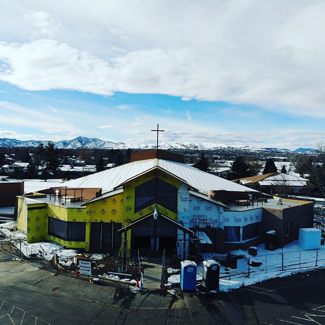 St. Jude is coming along. #update #construction #craftsmanship #🇺🇸 #catholichurch #architecture #djimavicair