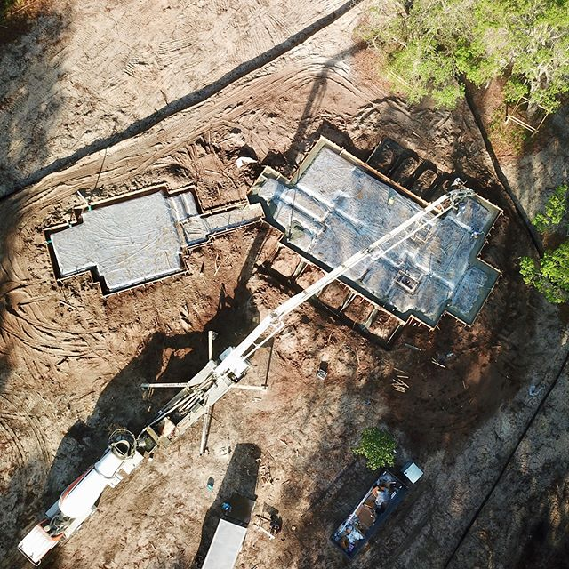 Awesome shots of the foundation we poured yesterday in Rose Dhu Creek!