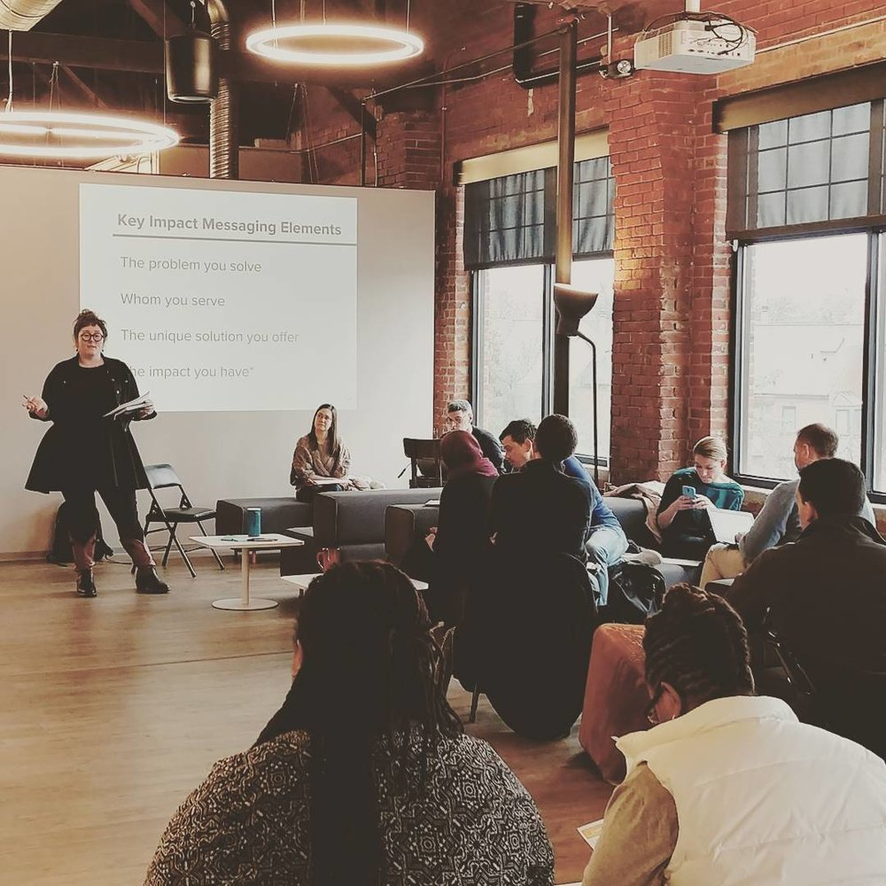 Social Venture Partners Pitch Practice, 2017; Photo by Erin Gatz; Pittsburgh, PA