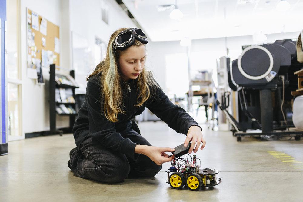 Robotics Summer Camp, 2017; Photo by Joseph Wyman; Pittsburgh, PA