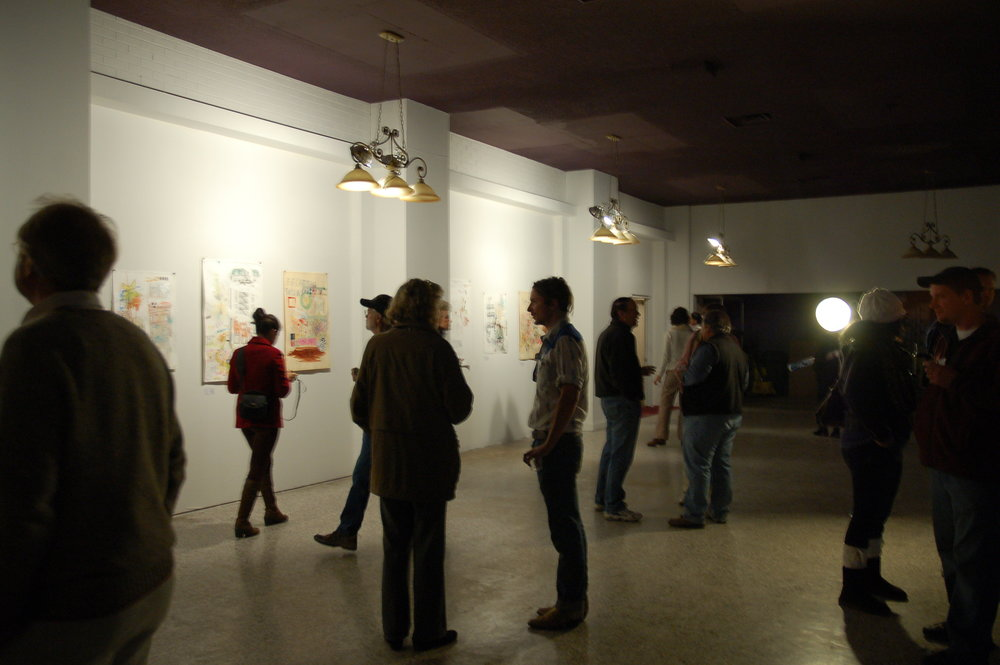 Adam Lynn Gallery Show, 2011; Photo by Louise Larson; Butte, MT