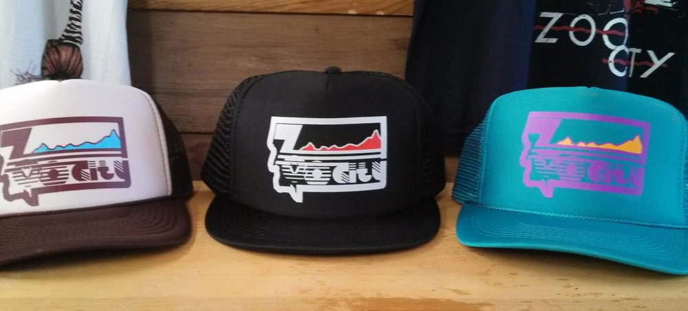 Zoo City Bicentennial Trucker Hats, 2011; Photo by Chris Johnson; Missoula, MT