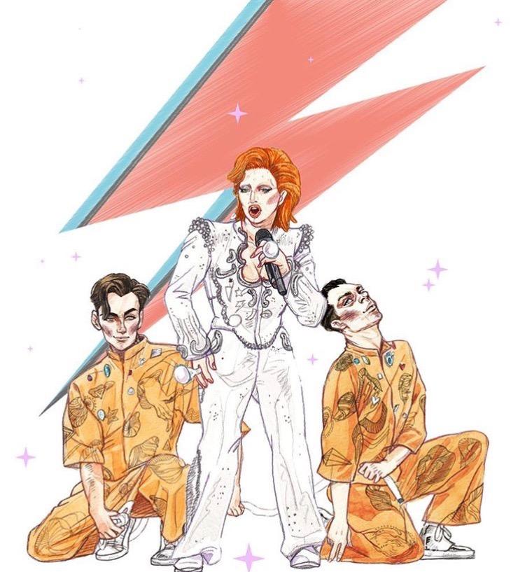 Fan Art of David Bowie Tribute