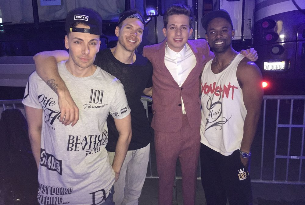 Charlie Puth after our performance on the American Music Awards