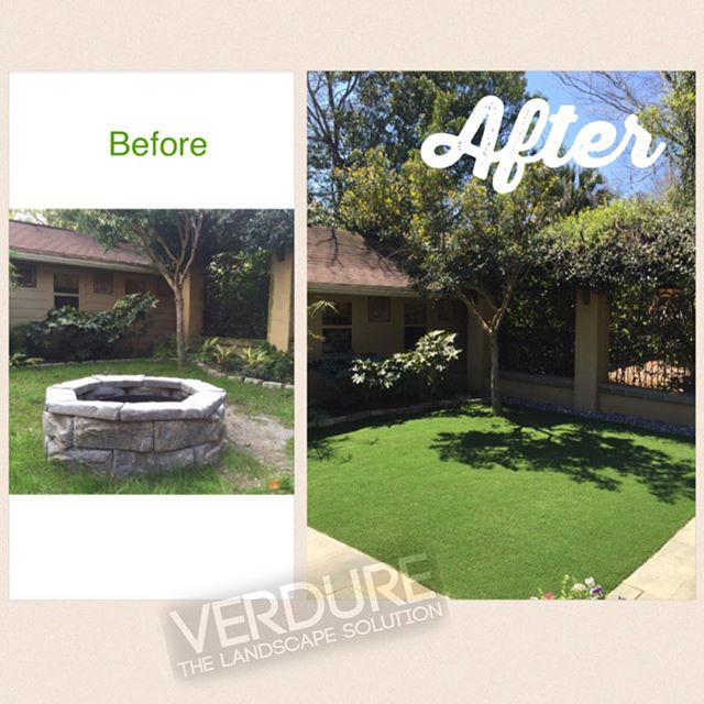 Want results? Say goodbye to watering, upkeep, and chemicals! Say hello to relaxation, a stress-free yard, and peace of mind. @synlawn is the future. #beforeandafter #landscape #pensacola #upsideofflorida #gulfcoastbestcoast #smallbusiness #perfect #pensacolalandscape #turf #synlawn #syntheticturf