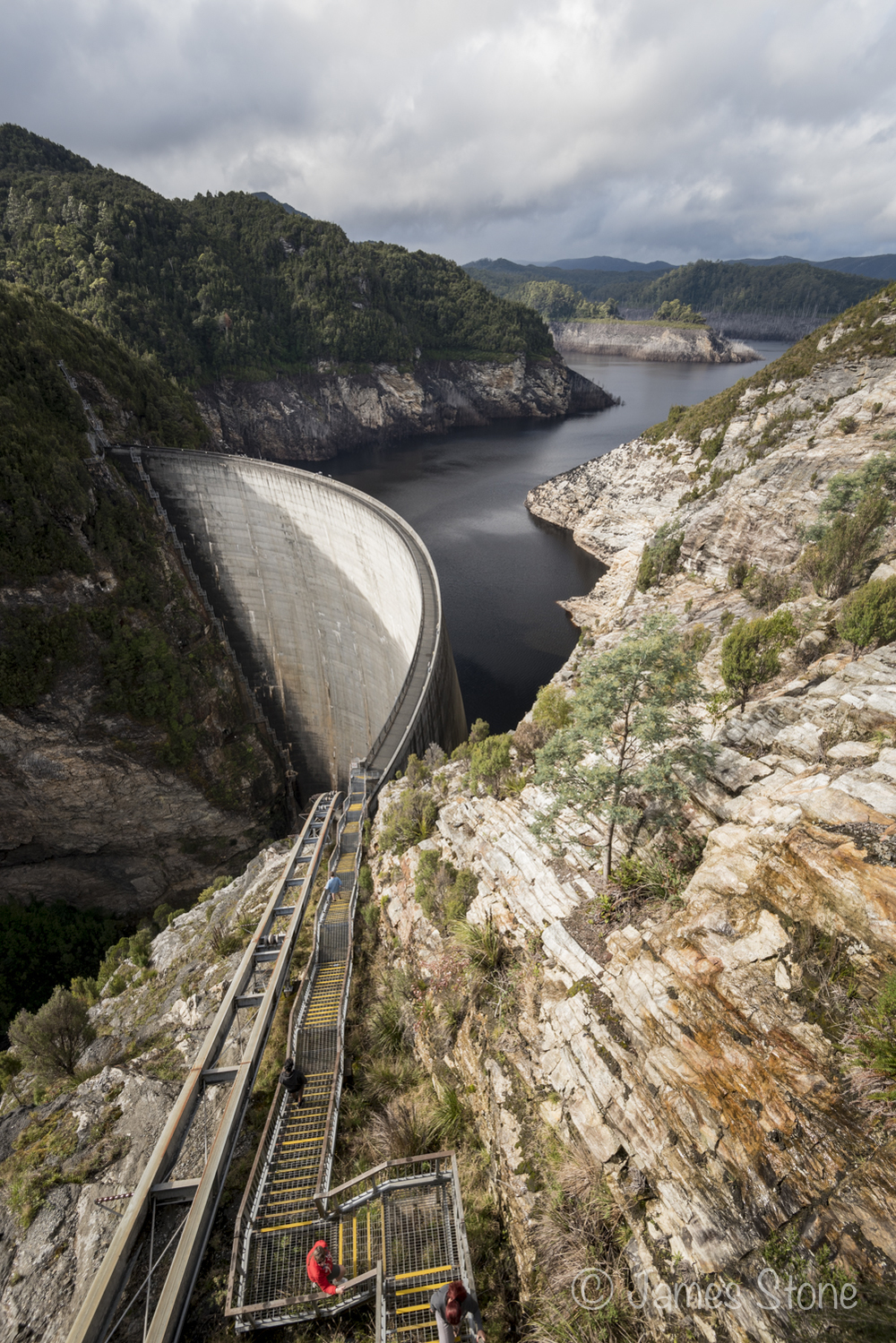 Down to the dam