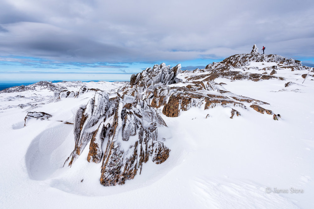 Snow-shoeing, Ben Lomond