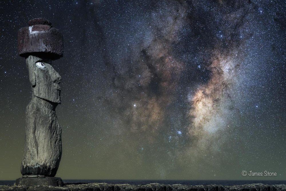 Moai Dreaming, Easter Island composite.