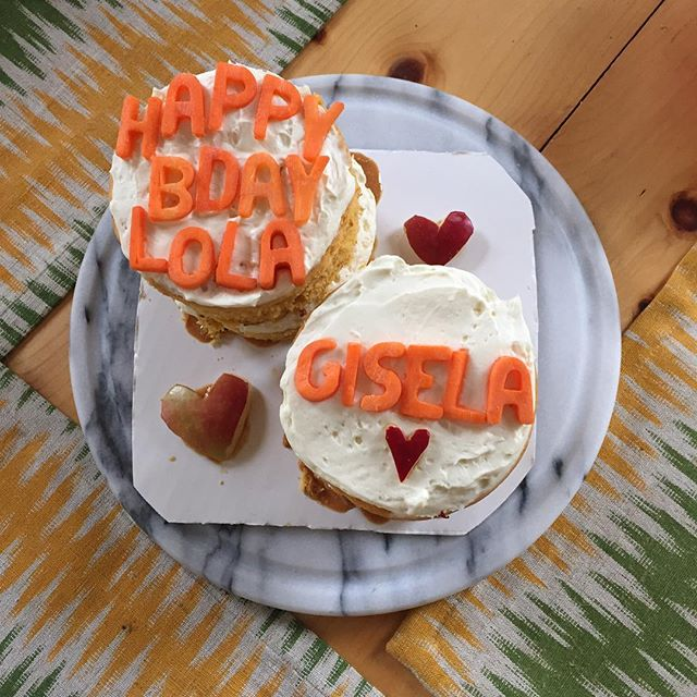 We loved making Lola's 10th birthday cake! Matching sweet potato cakes for the sweetest doggie and her mama. ❤️