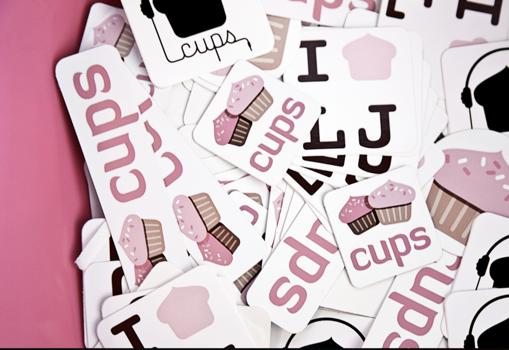 Logo Applied to Stickers For Kids