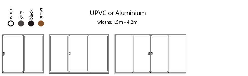 Sliding Patio Doors - 2,3 and 4 pane options.