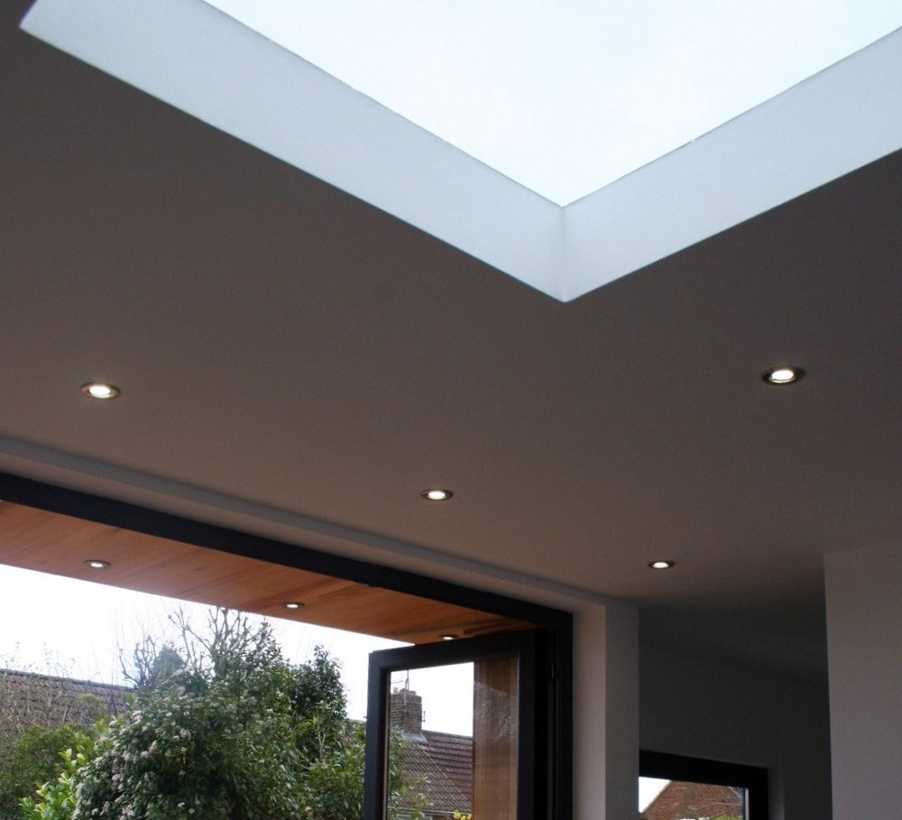 Fixed Glazing Skylights - A great way to flood the inside of your new space with natural light and a popular option.Double glazed, argon filled, roof lights with self-cleaning glass.Fully compliment within the 2.5m height limit and available on all garden room designs.