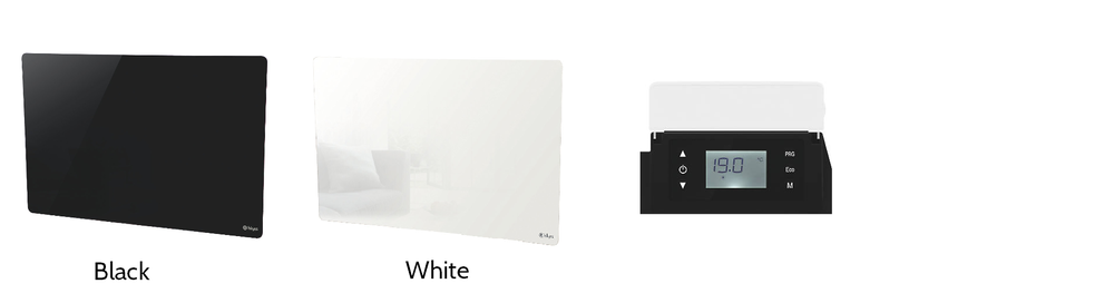 Heating - As standard:Wall mounted glass panel heater white or blackThermostat controlTimer control1kw - 2kw to suit your building size
