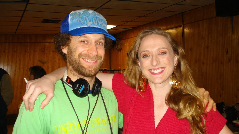 On set of Delocated on Adult Swim with Jon Glaser