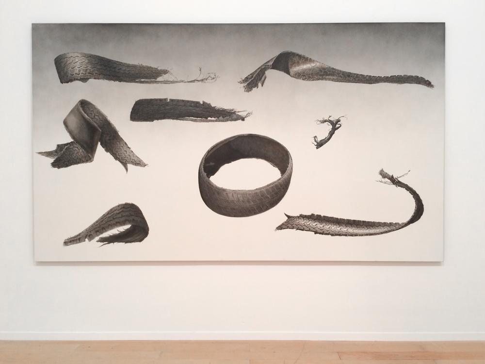 Ed Ruscha,Gators,Acrylic on canvas,315 x 182.9 cm.Collection Prada, Milan.