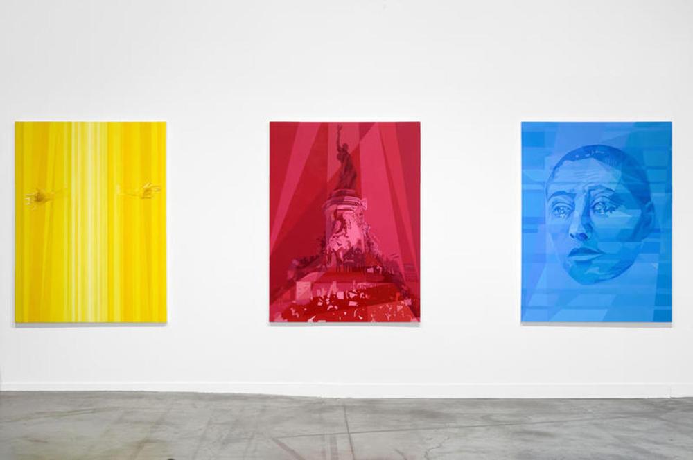 Anna Ostoya,Red, Blue, Yellow,création Biennale 2015.Courtesy de l'artiste, Silberkuppe, Berlin; Bortolami Gallery, New York et tegenboschvanvreden Gallery, Amsterdam. Photography © Blaise Adilon
