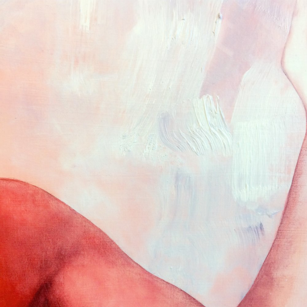 Detail of Noclip #1, oil on paper, exhibited as a part of Sing the Body at CB1 Gallery.