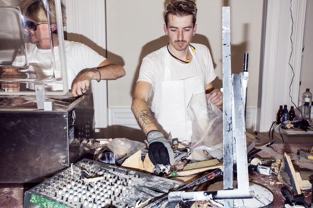Process shot: Joris Van de Moortel pictured with AF Vandevorst.( Photo : Boy Kortekaas  )