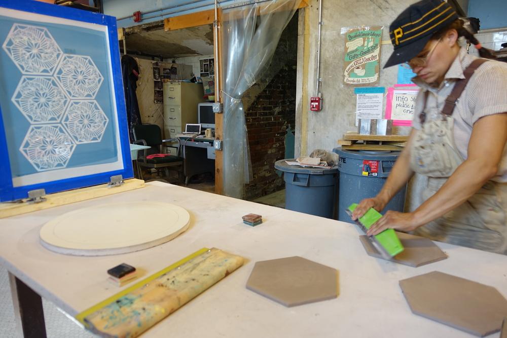 Local ceramicist KT Tierney.( photo : Tod Seelie)