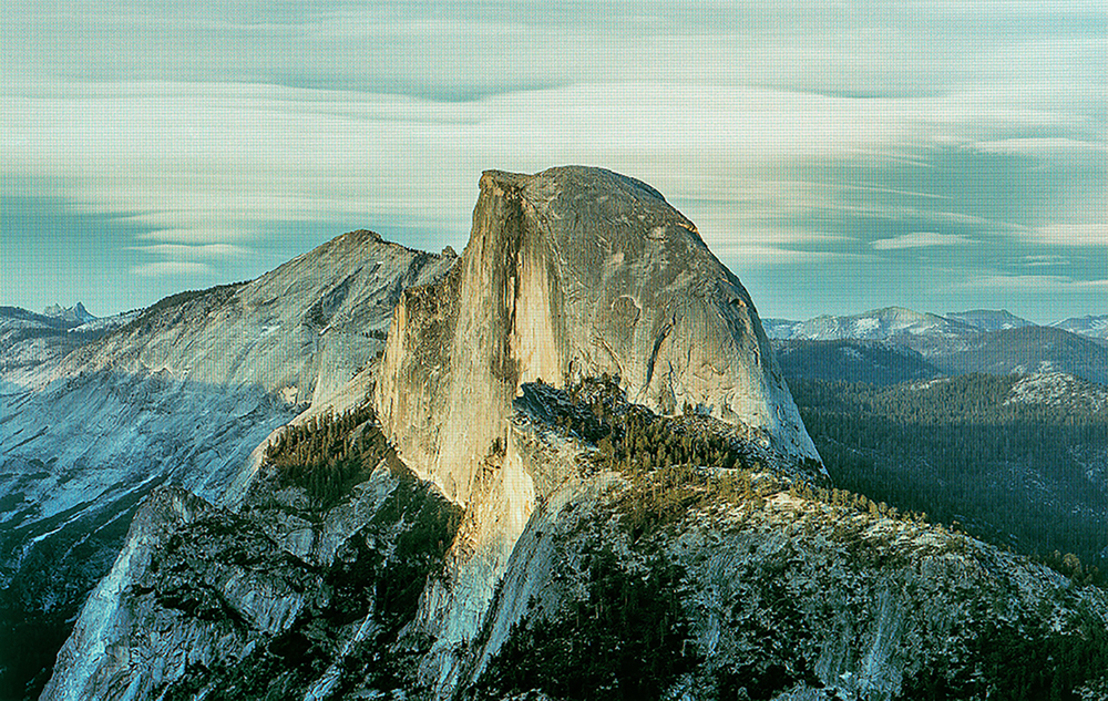 Half Dome as Viewed from Glacier Point, Yosemite National Park. Original Photo by DAVID ILIFF; Creative Commons License CC-BY-SA 3.0  (from  eScapes  series), 2015. 30.4 x 48 inches. Pigment print.