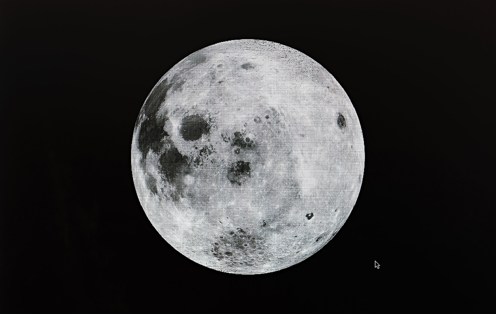 A Virtual View of the Moon Showing Clementine Data, Photo by NASA/Goddard Space Flight Center  (from  eScapes  series), 2015. 19 x 30.25 inches. Pigment print.
