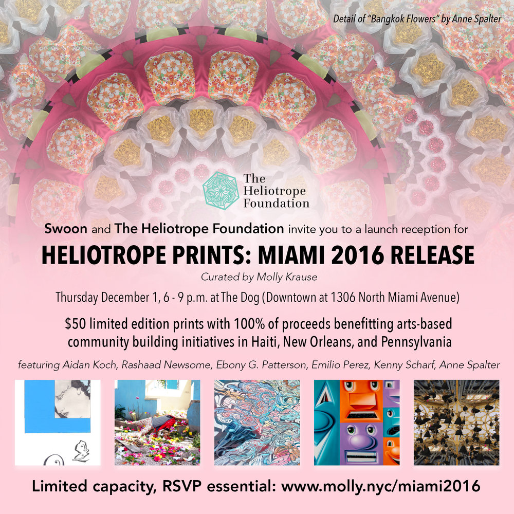 Heliotrope print reception miami 2016_Anne Spalter