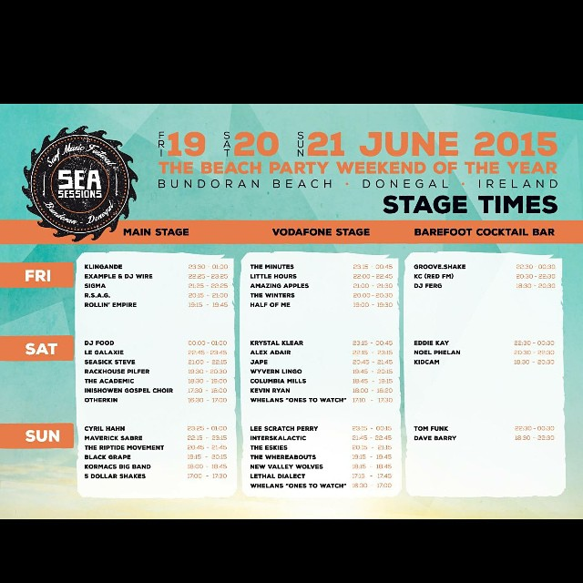 The festival schedule is done! Make sure you catch us Main Stage on Sunday at 4:45!! #seasessions #we'recoming #theboyrichie