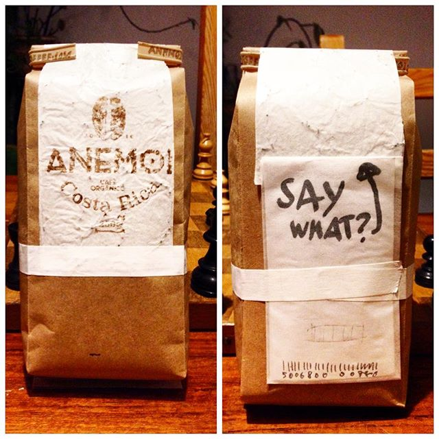 So we're very busy assembling our next prototype.. But what could be awesome to write on the backside-booklet? (The one that says SAY WHAT? for now)  ANEMOI.COFFEE www.facebook.com/anemoicoffee  #coffee #costarica #organic #sailing #☕️⛵️ #coffeetime #coffeelover #coffeeaddict #sail #sailing #sailor #ship #love #beautiful #instagood #green #organic #health #healthychoices #puravida