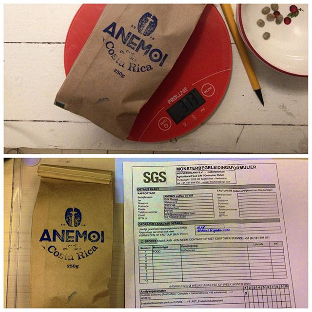 312grams of coffee on their way to a lab to see if we can find any pesticide residues 🔍🤔 ANEMOI.COFFEE www.facebook.com/anemoicoffee  #coffee #costarica #organic #sailing #☕️⛵️ #coffeetime #coffeelover #coffeeaddict #sail #sailing #sailor #ship #love #beautiful #instagood #green #organic #health #healthychoices #puravida